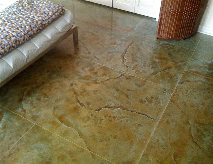 Stamped Concrete Interior Floors : Pemble concrete coatings